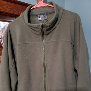 REI mens zipper down fleece